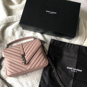 Saint Laurent Rose Medium College Bag